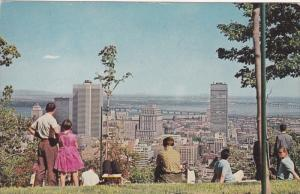 View from Mount Royal Lookout , MONTREAL , Quebec , Canada, PU-1969
