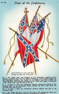 Flags of the Confederacy USA Civil War Unused