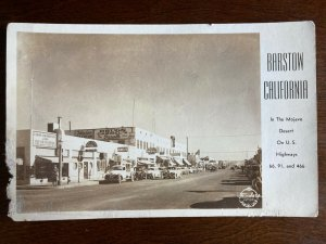 RPPC Barstow, CA In The Mojave Desert On Route 66, Hwy 91 & 466 D22