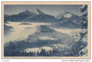 Berchtesgaden Von der Marxenhohe Mit Watzmann U. Hochkalter, Bavaria, Germany...