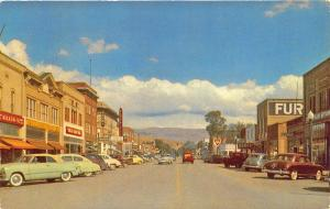 Montpelier ID Street Store Fronts Signage 1954 Old Cars Postcard