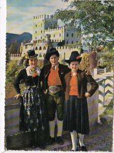 Austria Tirol Schloss Itter Locals In Taditional Costume