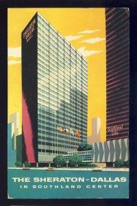 Dallas, Texas/TX Postcard, The Sheraton-Dallas Hotel, Southland Center, 1959!