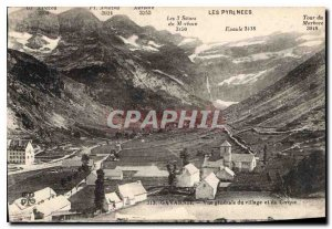 Old Postcard Gavarnie General view of the village and the Circus