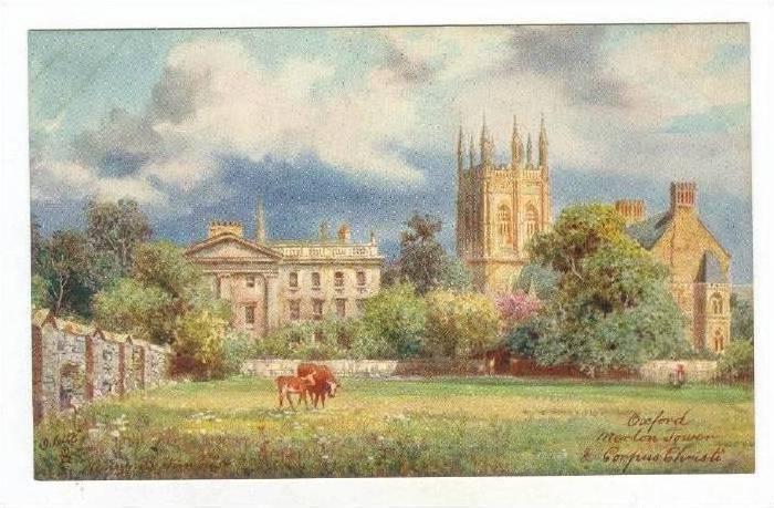 Merton College & Corpus Christi, Oxford, England, UK, 1900-1910s