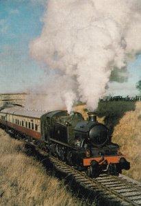 GWR Prairie Train 2-6-2 Tank 5164 at Eardington in 1979 Postcard