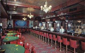 Million Dollar Golden Nugget Gambling Hall Casino Bar Las Vegas NV Postcard 1957