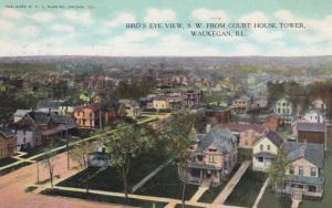 WAUKEGAN , Illinois , 1908 ; Bird's Eye View