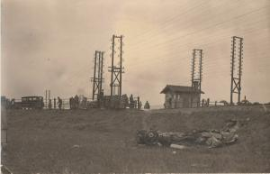 Social history disaster car & train railroad accident early real photo postcard