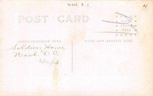 H78/ Washington D.C. RPPC Postcard c1910 Soldiers Home Cannons Men 169