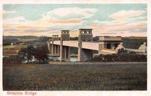 Britania Bridge, Wales, Great Britain, Early Postcard, Unused