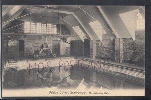 Yorkshire Postcard - Orleton School, Scarborough - The Swimming Bath  HM297