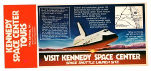 Kennedy Space Center Tours, NASA, Florida 4 X 9 inch Two-Sided Brochure