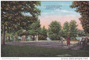 Wisconsin Janesville Shuffleboard Courts In Riverside Park 1952