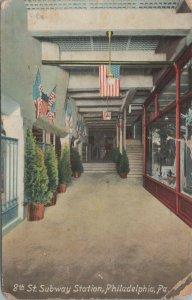8th Subway Station,Philadelpia Vintage Postcard published by P. Sanders