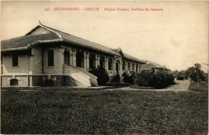 CPA AK INDOCHINA Cholon Hopital Drouhet VIETNAM (956981)