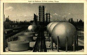Vtg Postkarte C 1940s - Port Arthur, Texas - Gulf Öl Raffinerie - Unbenutzt