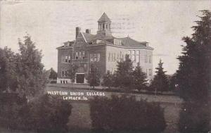 Iowa Lemare Western Union College 1909