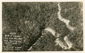 WV - U.S. Route 50 on Laurel Mountain, Big S Curve    *RPPC