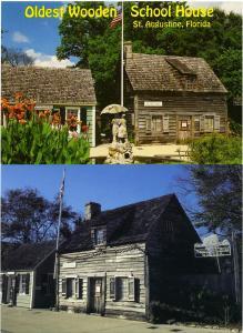 (2 cards) Oldest Wooden School House - Saint Augustine, Florida