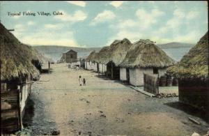 Cuba Fishing Village c1910 USED Postcard - Made in USA