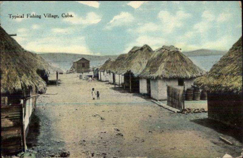 Cuba Fishing Village c1910 USED Postcard - Made in USA