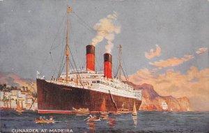 Cunarder at Madeira Cunard Line Ship Unused