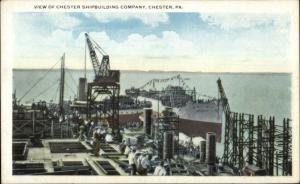 Chester PA Ship Building Shipbuilding Industry c1920 Postcard