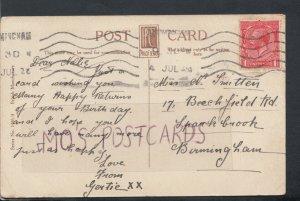 Family History Postcard - Smitten - 17 Beechfield Road, Birmingham  RF3951