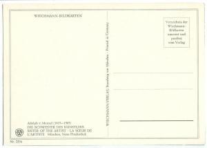 Adolph v. Menzel, Die Schwester des Kunstlers, Sister of the Artist, unused