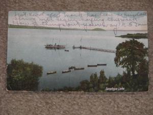 Saratoga Lake, N.Y., 1907, used vintage card