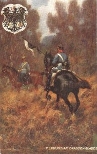 Granville Baker.Soldiers of the World. Prussian Dragoo. Horses Tuck Oilette PC