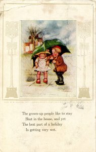 On all hearts some rain must fall  Artist: Eliza Curtis    (card has crease)