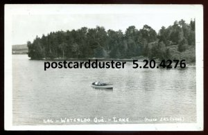 4276 - WATERLOO Quebec 1950s Lake Boating. Real Photo Postcard by Legare
