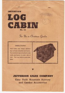 Jefferson Sales Company – Imitation Log Cabin – model railroad ?