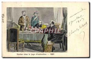 Old Postcard Vacher in the jude d & # 1897 39instruction