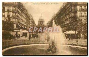 Old Postcard Paris La Rue Soufflot and the Pantheon