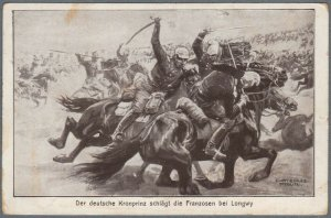 Franco-Prussian War Postcard Battle at Longwy by C. Schultz