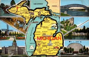Michigan With Map and Multi Views 1953