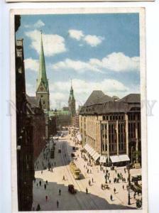 154968 Germany HAMBURG Monckebergstrasse Street TRAM Vintage