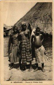 PC CPA ETHNIC NUDE FEMALE NATIVE TYPE GIRLS SENEGAL AFRICA Postcard (b588)