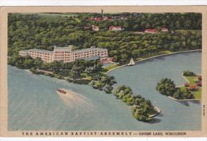 Wisconsin Green Lake Aerial View The American Baptist Assembly 1952 Curteich