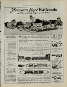1924 American Flyer Railroads Toys and Autos Vintage Print Ad 3958