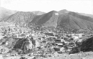Bisbee Arizona Business District Castle Rock 1940s RPPC Photo Postcard 8508