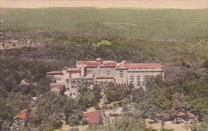 From The South Aerial View Of The Inn At Buck Hill Falls Pennsylvania Handcol...