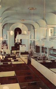 NEWPORT, RI Rhode Island  TRINITY CHURCH~Interior BOX PEWS~ALTAR Chrome Postcard