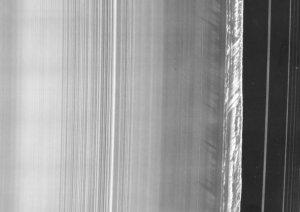 Planet Saturn B Ring Cassini Spacecraft August Equinox Photo Postcard