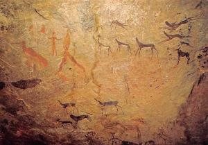 Namibia Rock Paintings Farm Oase SWA