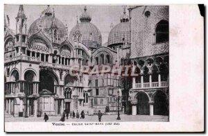 Old Postcard Italia Italy Venice Saint Mark Church