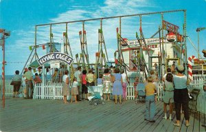 Seaside Heights New Jersey Flying Cages Casino Pier Vintage Postcard JJ658848